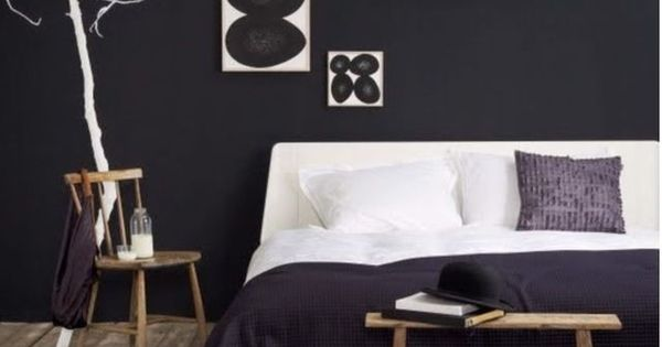 relooking d co chambre en noir et blanc chambres chambre adulte et chambre parents. Black Bedroom Furniture Sets. Home Design Ideas