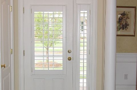 Sidelight Plantation Shutter On Sidelights Love This Look