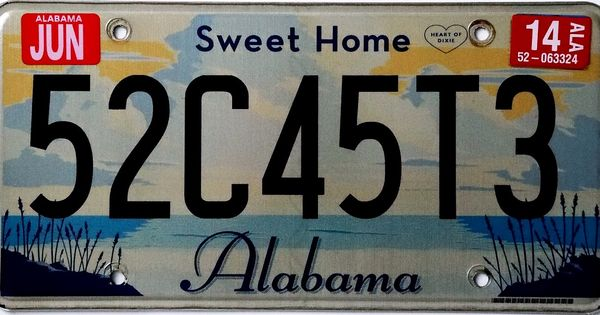 Alabama 2010 Passenger Issue This General Issue Was Released For Alabama Starting In January 2009 This Issue Featured A Slogan Sweet Home Alabama Sweet Home