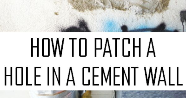 How To Fix A Big Hole In A Cement Wall Plaster