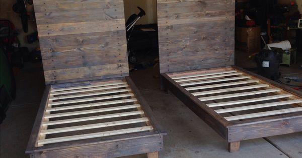 Diy Platform Bed Twin Beds Wood Slats And Platform Beds