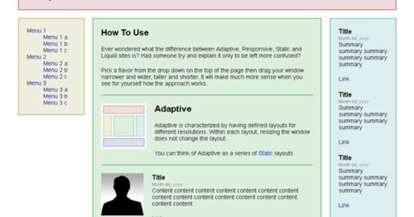 Adaptive Vs Responsive Designs Design Webdesign With Images Web Design Responsive Design Responsive Web Design