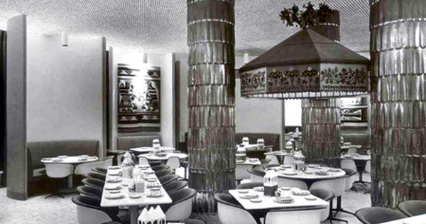 Interior Of Mexican Inspired Restaurant La Fonda Del Sol Nyc By Alexander Girard 1960