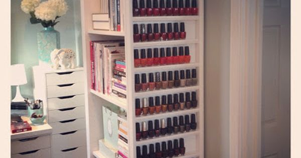 Maggie's Makeup: DYI nail polish rack