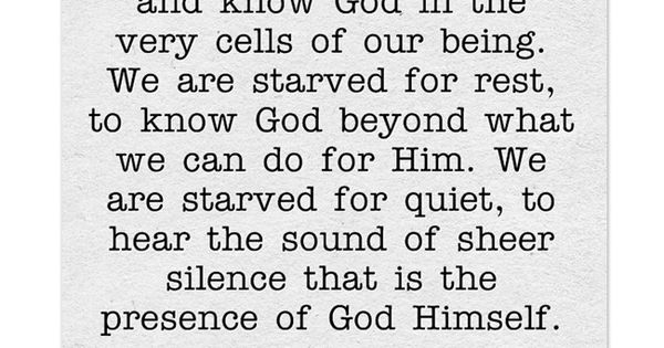 we are starved for intimacy to see and feel and know god