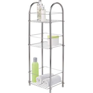 Buy 3 Tier Organiser Chrome At Argos Co Uk Your Online Shop For Bathroom Shelves And Bathroom Storage Units Chrome Bathroom Shelves Bathroom Storage Tower
