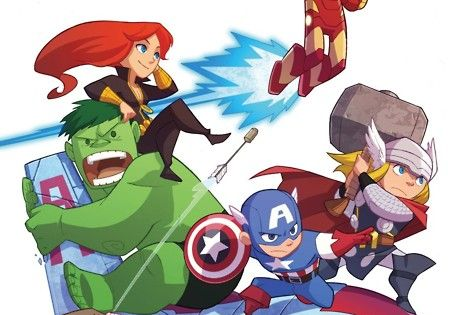 The Avengers [Hulk, Iron Man, Thor, Captain America, Black Widow, Hawkeye]