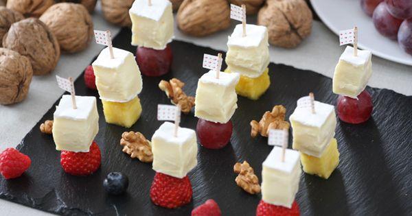 Receta francesa tapa de mini brocheta de brie pr sident for Tapas francesas
