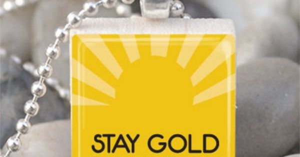 Stay Gold Ponyboy The Outsiders Necklace Outsiders Jewelry