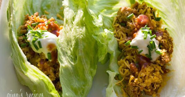 Turkey Taco Lettuce Wraps Gina's Weight Watcher Recipes Servings: 4 • Serving