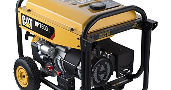 Cat Rp7500e Gas Powered Portable Generator With Electric Start 7500 Running Watts 9375 Starting Watts 490 6491 Portable Generator Best Portable Generator Portable Generators