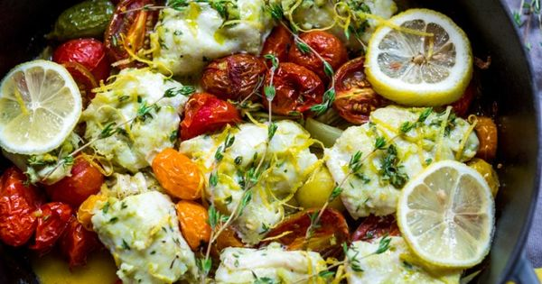 Baked haddock, Fennel and Roasted tomatoes on Pinterest
