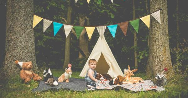 One Year Old Toddler Baby First Birthday Shoot Woodland