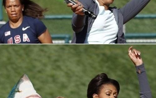 Photoshop level: Michelle Obama... and i guess we are ignoring that fine