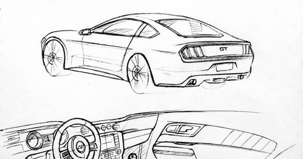 car drawing 151204 2015 ford mustang prisma on paper  kim