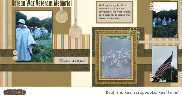 Vietnam Veterans War Memorial Page Scrapbook Layouts