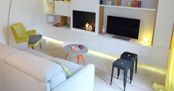 Am nagement salon design avec cuisine ouverte chic and for Amenagement salon cuisine ouverte
