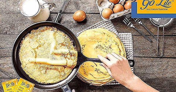 الكريب الفرنسي الحلو المقادير 2 بيضة نصف ملعقة صغيرة من الفانيلا رشة ملح ملعقتان كبيرتان سكر 1 كيس جولايت بديل ا Low Calorie Sweetener Low Calorie Calorie
