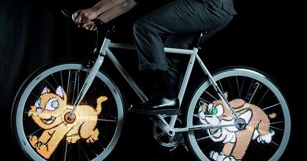 Monkey Light: LED Bicycle Wheel Display System