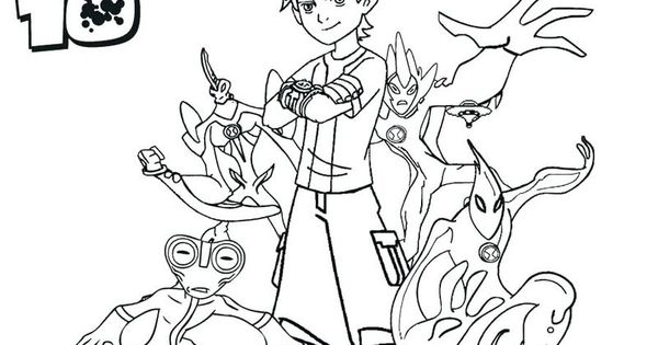 Overflow Ben 10 Coloring Page