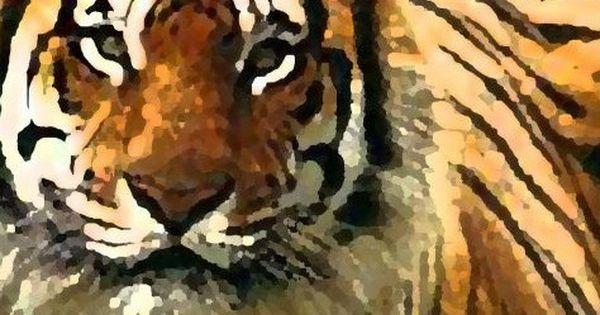 Cute Wallpaper Tiger Art Painting Tiger Wall Mural Art Painting Mural Art Tiger Art Mural Wall Art