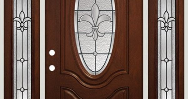 Fleur De Lis Fiberglass Entry Door Pre Finished To Look