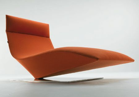 Modern chaise lounge mdf italia furniture inspiration for Burnt orange chaise lounge