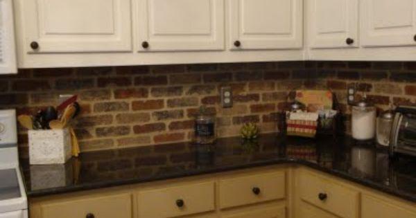Brick Backsplash For The Kitchen Patterns Pinterest Bricks Thin Brick And Kitchens