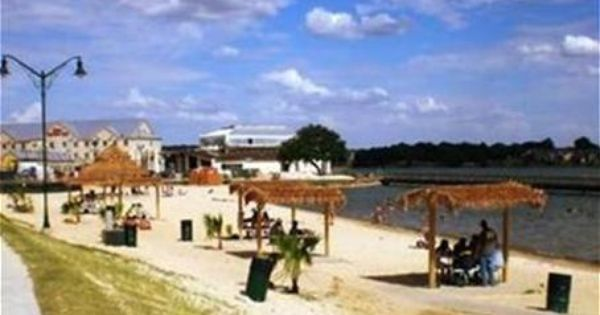 Granbury City Beach Park Sand Is Imported From South Padre Reserve A Thatched Roof