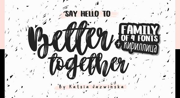 Better Together Family Font – charismatic script