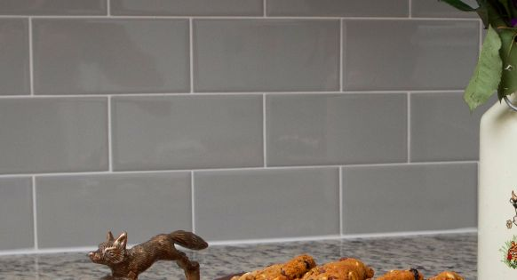 Kitchen Backsplash Rittenhouse Square Tile Desert Gray