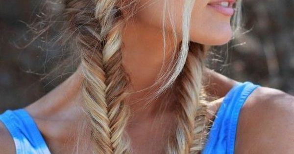 fishtail pigtails love this hair color too.