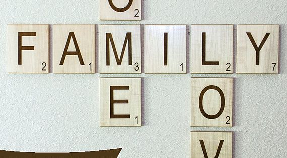 Large Individual Scrabble Letters Crossword Wall Decor