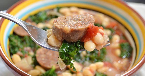 sausage & kale cassoulet - Budget Bytes (crock pot)