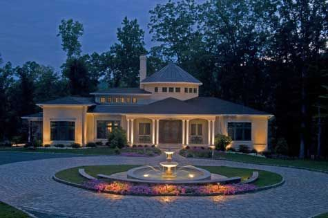 Creating Beautiful Formal Garden Designs Driveway Design Driveway Lighting Outdoor Landscape Lighting