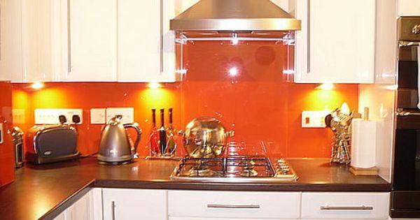 kind of what my kitchen will look like :) orange splash back