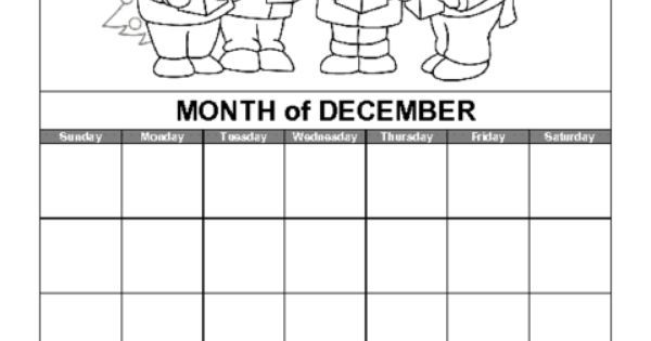 April Calendar Education World : Education world december calendar template teaching