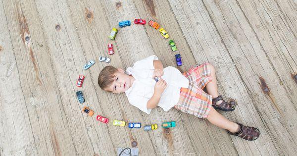 2 year old photo shoot, cars, little boy photo shoot | Carol