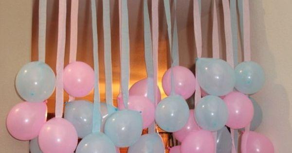 Cortina de globos para decorar baby shower http - Bombas para decorar ...