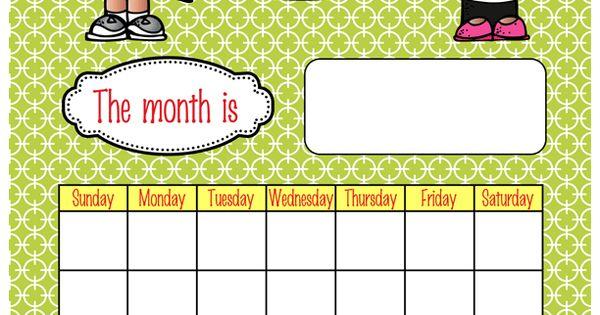 the brainy bunch classroom calendar set month headers