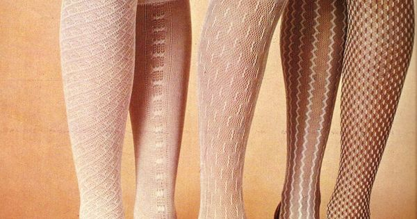 1960's shoes and tights. I remember the comments about the 'net curtain'