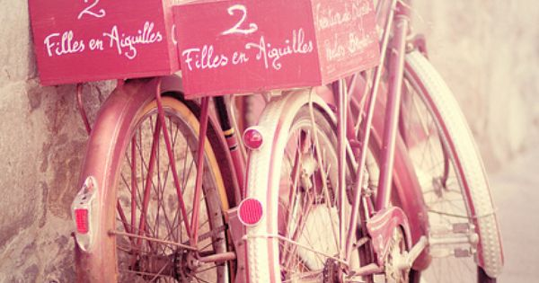 I want a pink bike. A classic, retro bike. Like this.