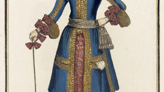 recueil des modes de la cour de france 39 dame en habit de chasse 39 nicolas bonnart france 1637. Black Bedroom Furniture Sets. Home Design Ideas