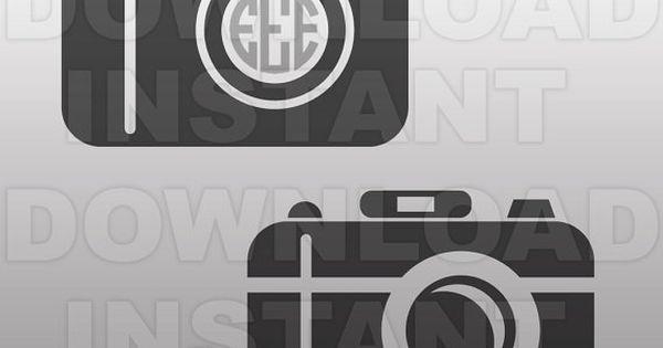 Download Camera SVG File,Monogram SVG,Cutting Template-Vector Clip ...