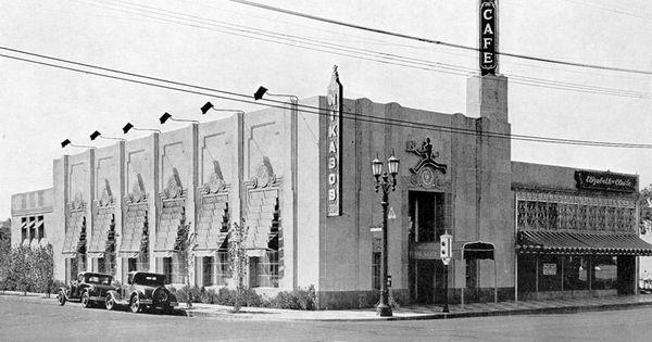 Building Of Hollow Cement Blocks Design In Molded Cement Over Doors Aluminum Trim Around Windows And Doors Tan Awnings Bla Art Deco Deco California History