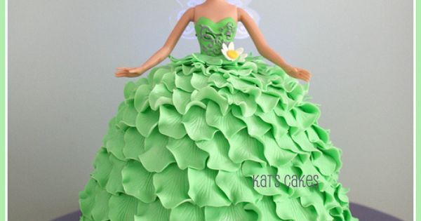 "Tinkerbell cake. I've always wanted to try one of these ""Barbie cakes"""