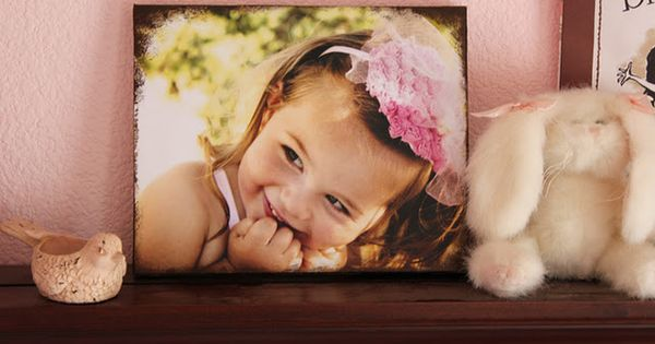 Photo Canvas DIY - SO much cheaper than getting canvases made!