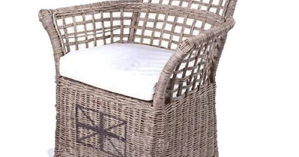 Houss living rieten stoel veranda wit kussen nieuw huis pinterest veranda 39 s - Woonkamer rotan voor veranda ...