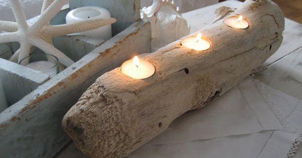 Le bois flott une id e r cup 39 sympa support bougie for Arche en bois flotte