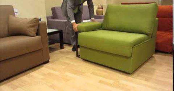 Sill n cama tipo m dulo que ocupa poco espacio bricolaje - Sofa cama que ocupen poco espacio ...